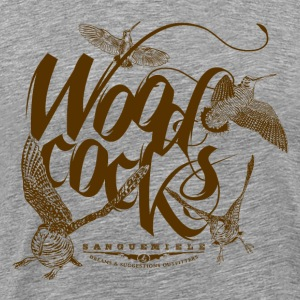 woodcocks_on_white Camisetas - Camiseta premium hombre