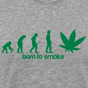 Weed Evolution -Born to smoke Koszulki - Koszulka męska Premium