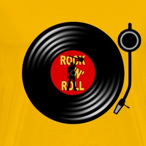 Rock 'n' Roll record player Tee shirts - T-shirt Premium Homme