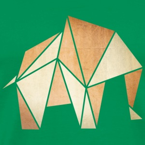 Origami: Elefant (Pergament-Optik) T-shirts - Herre premium T-shirt