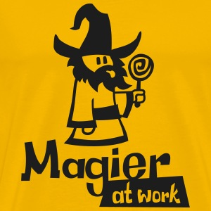 Mage at work - black glitter - Männer Premium T-Shirt
