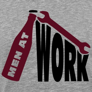 Men at work T-skjorter - Premium T-skjorte for menn