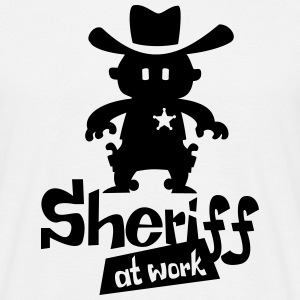 Sheriff at work - Männer T-Shirt