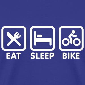 Eat sleep bike T-shirts - Mannen Premium T-shirt