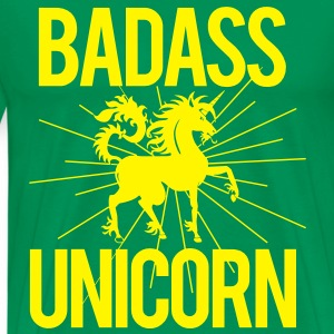 Badass Unicorn T-Shirts - Men's Premium T-Shirt