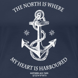 Northern Heart WH Wms - Women's Premium T-Shirt