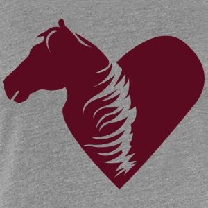 A heart for horses  T-Shirts - Women's Premium T-Shirt