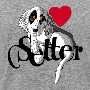 english_setter_puppy Tee shirts - T-shirt Premium Homme