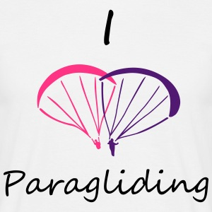 I Love Paragliding V2 Tee shirts - T-shirt Homme