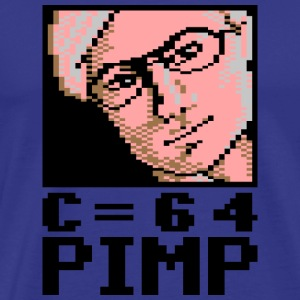 C64 Pimp David - Premium T-skjorte for menn