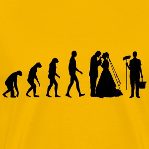 Evolution Wedding T-shirts - Herre premium T-shirt
