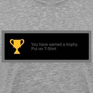 Trophy unlocked tshirt T-Shirts - Men's Premium T-Shirt