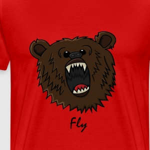 FlyMusic™  Bear with text T-shirts - Mannen Premium T-shirt