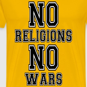 no religions no wars T-Shirts - Men's Premium T-Shirt