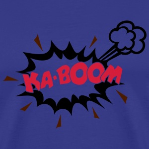 KABOOM, comic speech bubble, cartoon, word balloon - Men's Premium T-Shirt