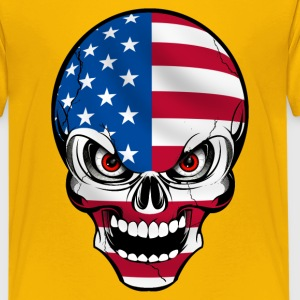 United States skull Shirts - Teenage Premium T-Shirt