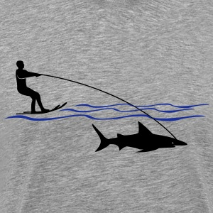 Shark Water  T-skjorter - Premium T-skjorte for menn