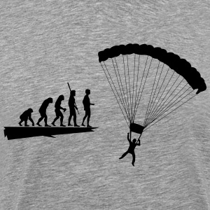 Evolution parachutist  T-Shirts - Men's Premium T-Shirt