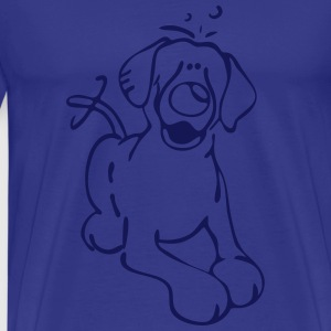 Labrador Retriever - Labbi - Lab - Hund T-shirts - Herre premium T-shirt
