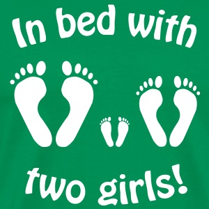In bed with two girls : Disco - Im Bett mit zwei M - Men's Premium T-Shirt