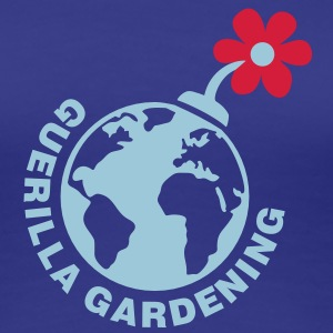 Guerilla Gardening - Blumen Bombe  - Let's do it! T-Shirts - Frauen Premium T-Shirt
