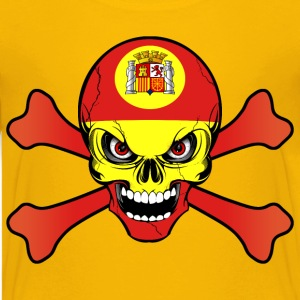 Spain Espagne skull Shirts - Teenage Premium T-Shirt