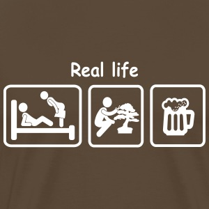 T-Shirt Homme Picto REAL LIFE - T-shirt Premium Homme
