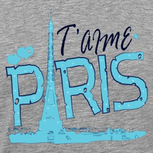 T'aime Paris Love Paris  Men's Standard T-shirt - Men's Premium T-Shirt