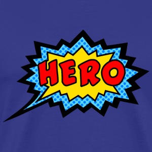 Comic, Hero, Speech Bubble, Superhero, Cartoon T-Shirts - Men's Premium T-Shirt