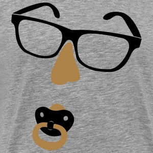 Glasses with nose and pacifiers  T-Shirts - Men's Premium T-Shirt