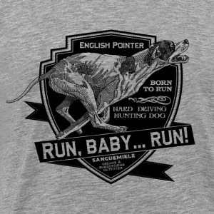 running_pointer_on_light T-Shirts - Men's Premium T-Shirt