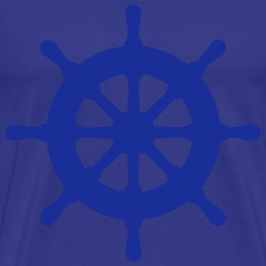 steering wheel ship 01 T-Shirts - Men's Premium T-Shirt