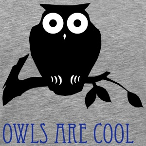 owls are cool T-shirts - Herre premium T-shirt