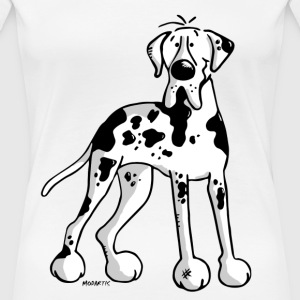 Deutsche Dogge - Hund - Doggen Cartoon T-Shirts - Frauen Premium T-Shirt