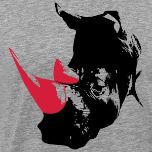 Rhino head  T-Shirts - Men's Premium T-Shirt