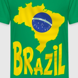 brazil - brésil 04 Shirts - Teenage Premium T-Shirt