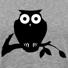 owl on branch T-Shirts