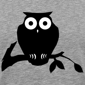 owl on branch Camisetas - Camiseta premium hombre