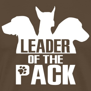 Leader of the pack - 3 dogs T-Shirts - Men's Premium T-Shirt