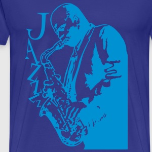 Jazz and saxo - Camiseta premium hombre