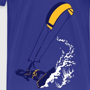 Kitesurfing and wave flex - Camiseta premium hombre