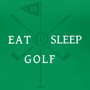 Eat Sleep Golf (2c) T-Shirts - Frauen Premium T-Shirt