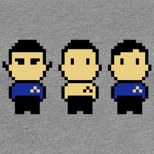 8bit Star Ship Captain, Science Officer and Doctor T-Shirts - Women's Premium T-Shirt