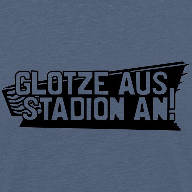 GLOTZE AUS, STADION AN! [Infantil/gelb]