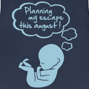 planning my escape this august T-shirts - Premium-T-shirt dam