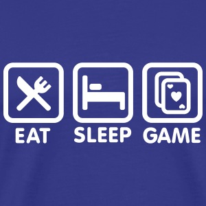 Eat - Sleep - Game poker T-shirts - Mannen Premium T-shirt