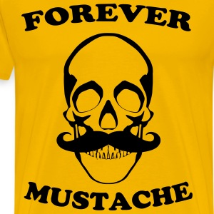 Forever mustache Tee shirts - T-shirt Premium Homme