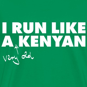 I Run Like A (Very Old) Kenyan T-skjorter - Premium T-skjorte for menn