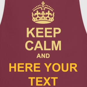 KEEP CALM AND... Write your text !  Aprons - Cooking Apron
