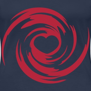 Heart Swirl Design T-Shirts - Frauen Premium T-Shirt